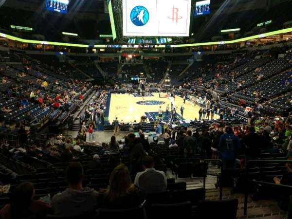 Target Center, section: 104, row: P, seat: 3
