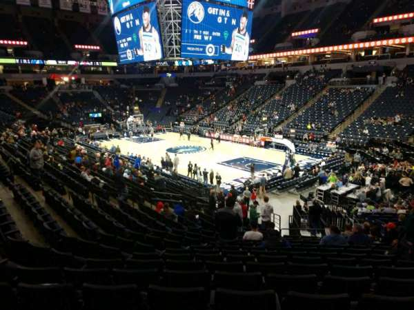 Target Center, section: 106, row: T, seat: 9