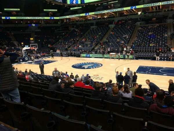 Target Center, section: 110, row: J, seat: 3