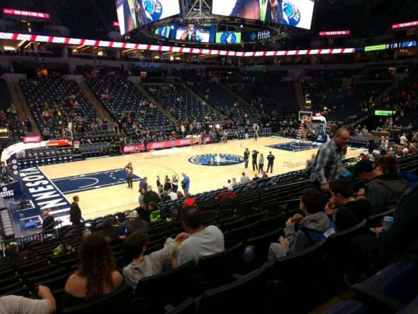 Target Center, section: 113, row: N, seat: 8