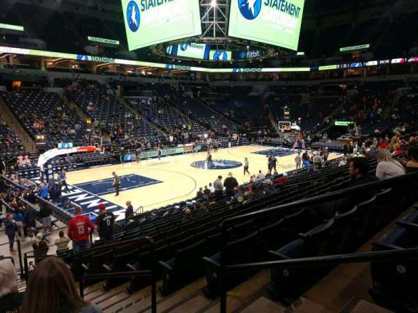Target Center, section: 116, row: M, seat: 2