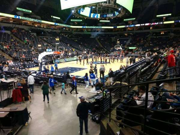 Target Center, section: 116, row: F, seat: 13