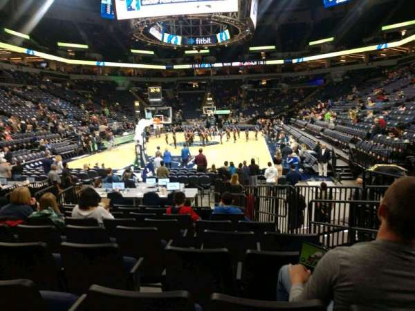 Target Center, section: 120, row: E, seat: 4
