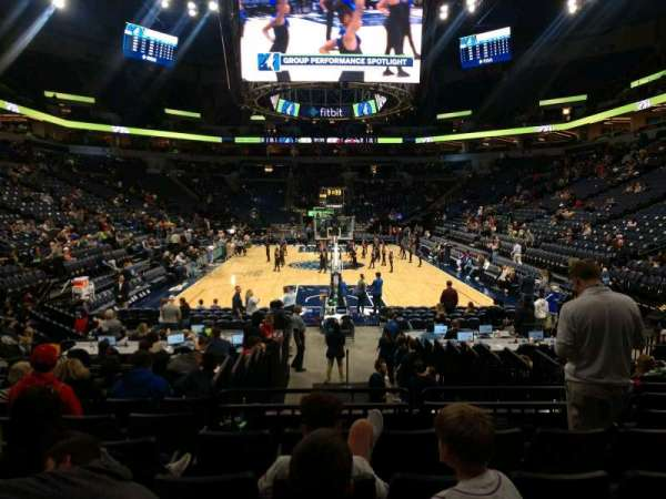 Target Center, section: 121, row: H, seat: 10