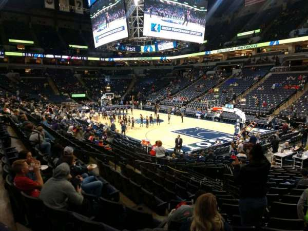 Target Center, section: 126, row: L, seat: 8