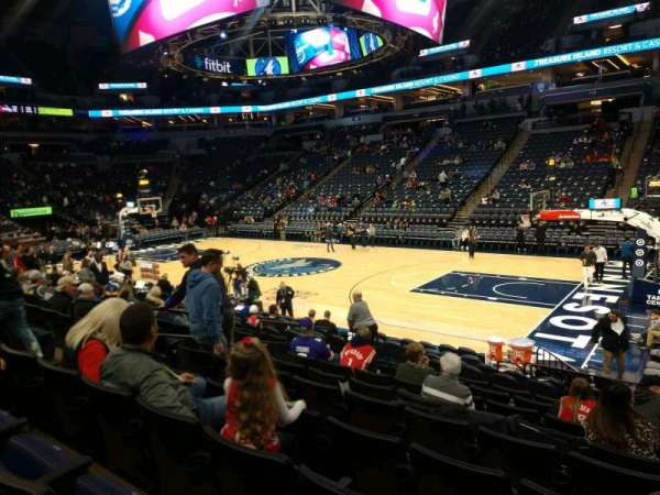 Target Center, section: 129, row: J, seat: 6
