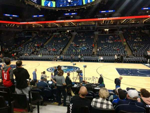Target Center, section: 130, row: F, seat: 13