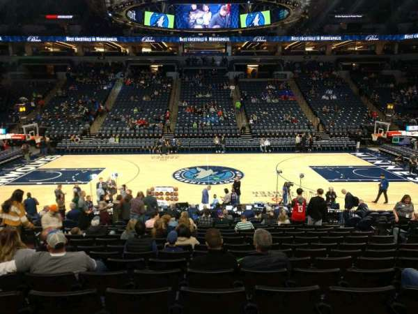Target Center, section: 131, row: N, seat: 8