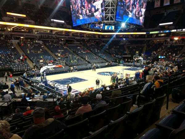 Target Center, section: 136, row: M, seat: 7
