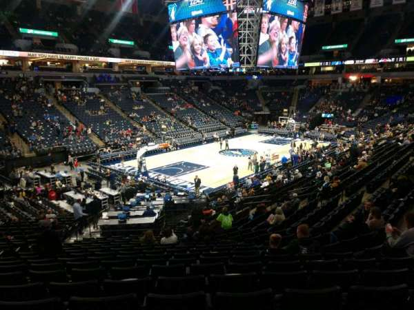 Target Center, section: 136, row: V, seat: 25