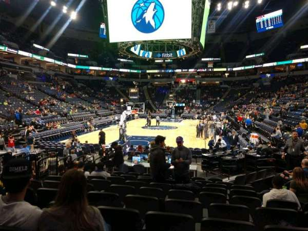 Target Center, section: 138, row: F, seat: 16