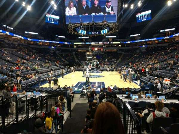 Target Center, section: 101, row: E, seat: 1