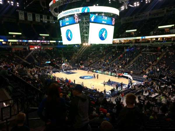 Target Center, section: 106, row: X, seat: 9