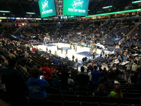 Target Center, section: 106, row: R, seat: 9
