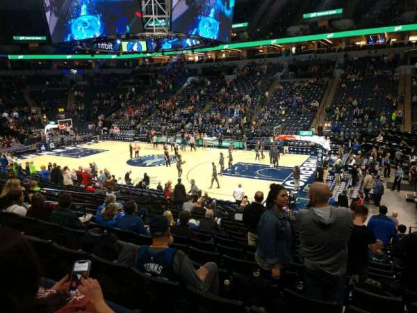 Target Center, section: 109, row: Q, seat: 2