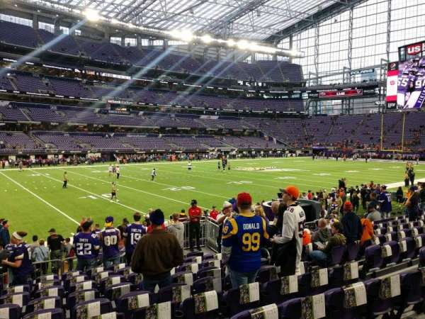 U.S. Bank Stadium, section: 113, row: 10, seat: 8