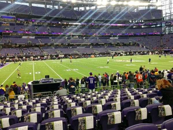 U.S. Bank Stadium, section: 112, row: 10, seat: 11