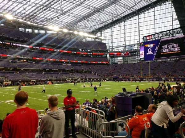 U.S. Bank Stadium, section: 113, row: 4, seat: 4
