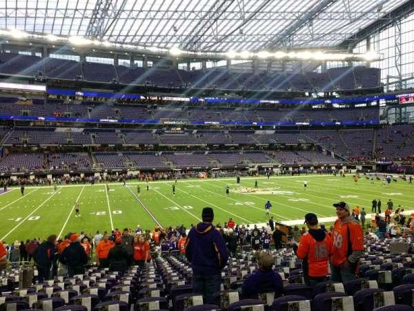 U.S. Bank Stadium, section: 111, row: 18, seat: 7
