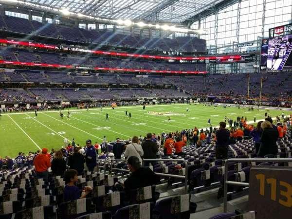 U.S. Bank Stadium, section: 113, row: 22, seat: 4