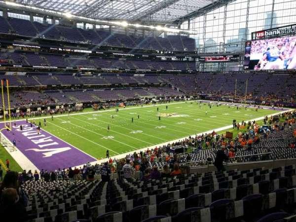 U.S. Bank Stadium, section: 114, row: 34, seat: 18