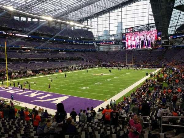 U.S. Bank Stadium, section: 116, row: 20, seat: 7