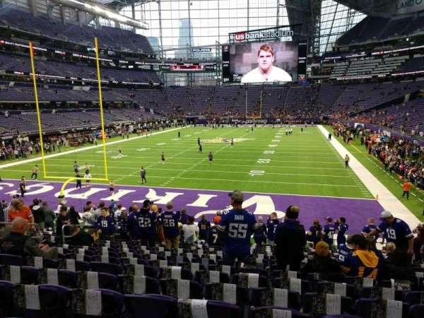 U.S. Bank Stadium, section: 118, row: 18, seat: 12