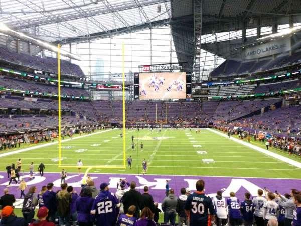 U.S. Bank Stadium, section: 119, row: 14, seat: 8