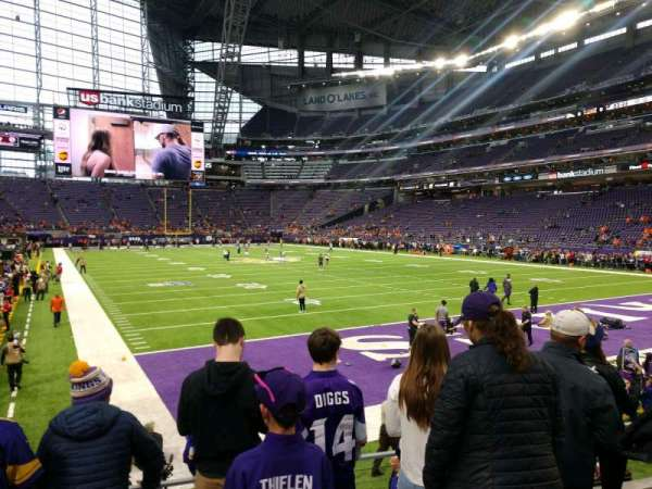 U.S. Bank Stadium, section: 122, row: 7, seat: 9