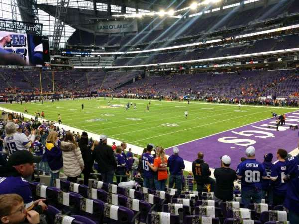 U.S. Bank Stadium, section: 124, row: 12, seat: 9