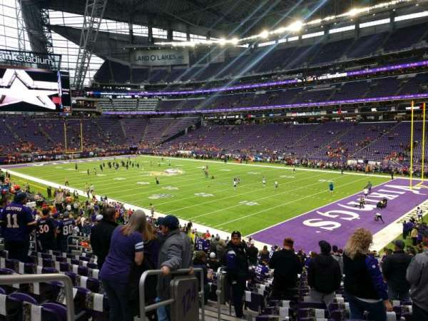 U.S. Bank Stadium, section: 124, row: 24, seat: 17
