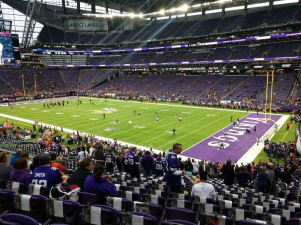 U.S. Bank Stadium, section: 124, row: 32, seat: 32