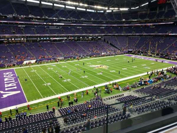 U.S. Bank Stadium, section: 238, row: 1, seat: 23