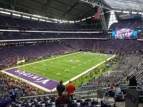 U.S. Bank Stadium, section: 242, row: 12, seat: 5