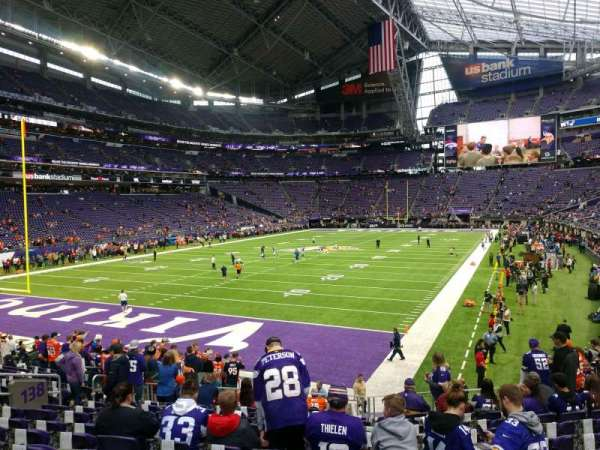 U.S. Bank Stadium, section: 138, row: 16, seat: 18