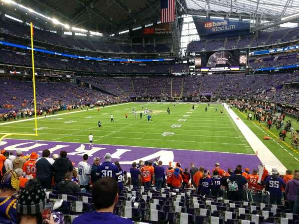 U.S. Bank Stadium, section: 140, row: 14, seat: 7