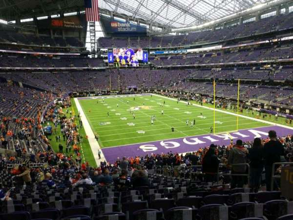 U.S. Bank Stadium, section: 101, row: 37, seat: 7