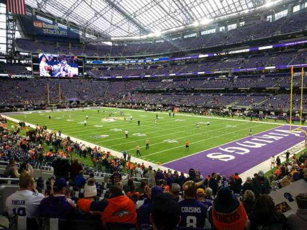 U.S. Bank Stadium, section: 103, row: 22, seat: 11
