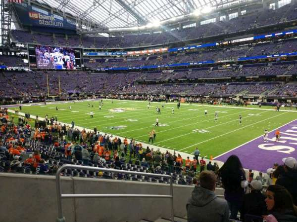 U.S. Bank Stadium, section: 103, row: 17, seat: 23
