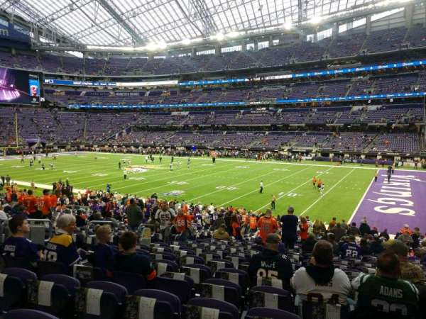 U.S. Bank Stadium, section: 105, row: 24, seat: 8