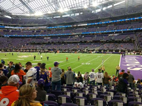 U.S. Bank Stadium, section: 105, row: 10, seat: 15