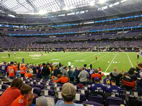 U.S. Bank Stadium, section: 106, row: 9, seat: 6