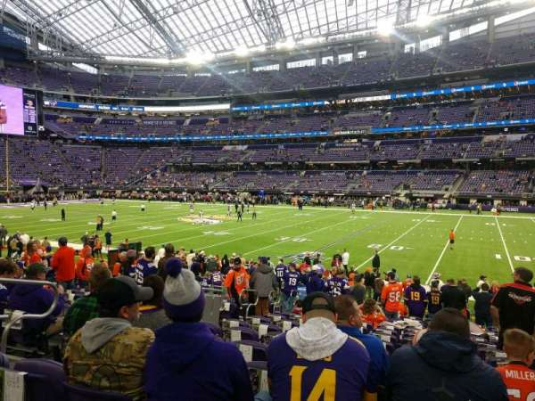 U.S. Bank Stadium, section: 106, row: 14, seat: 17