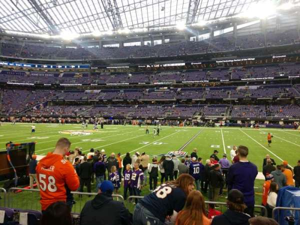 U.S. Bank Stadium, section: 107, row: 5, seat: 6