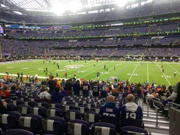 U.S. Bank Stadium, section: 107, row: 23, seat: 1