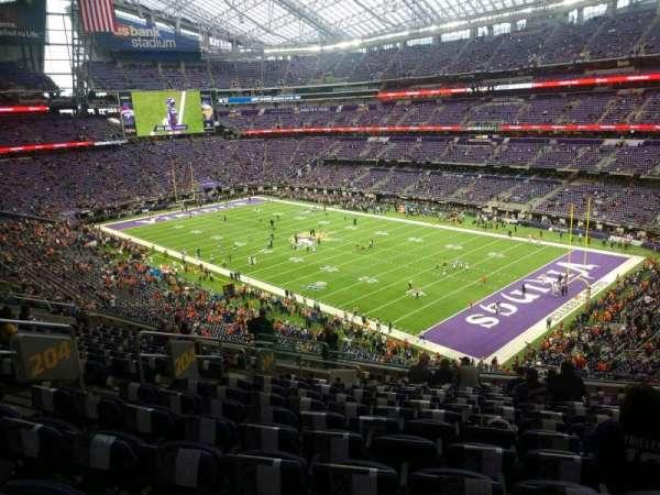 U.S. Bank Stadium, section: 204, row: 15, seat: 20
