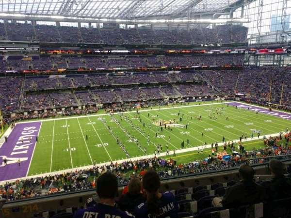 U.S. Bank Stadium, section: 214, row: 7, seat: 10