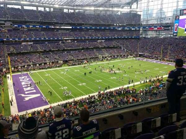 U.S. Bank Stadium, section: 216, row: 4, seat: 4