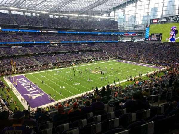 U.S. Bank Stadium, section: 217, row: 10, seat: 8