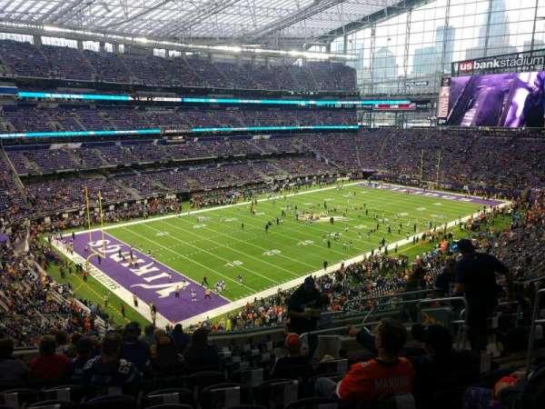U.S. Bank Stadium, section: 218, row: 11, seat: 7